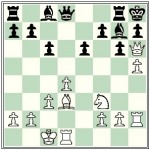 White's queen is attacked, yet he forces a quick mate. How?